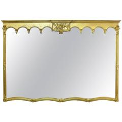 Early 20th Century Large Gilded Mantle Mirror