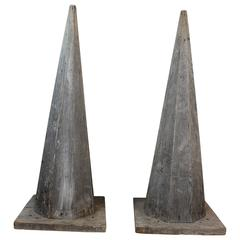 Pair of 19th Century Octagonal Architectural Spires