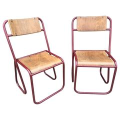 Rare Pair of French Chairs