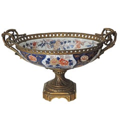 19th Century Louis XVI Style Ormolu-Mounted Bayeux Porcelain Centrepiece