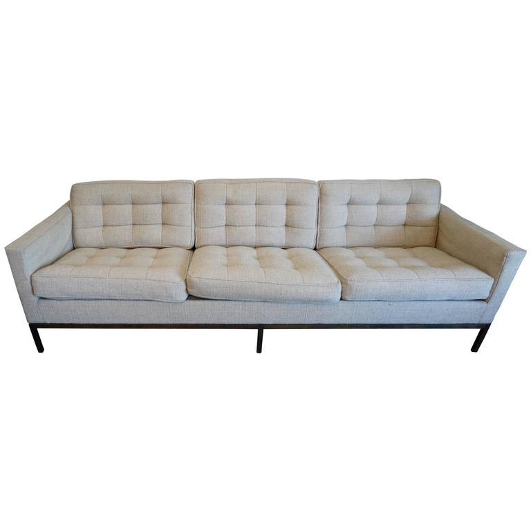 Florence Knoll Three-Seat Sofa For Sale
