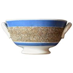 Antique Blue and White Pearlware Footed Bowl