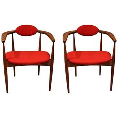 Pair of Adrian Pearsall Armchairs