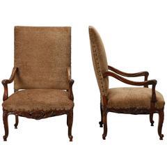 Rust Velveteen Dining Room Chairs