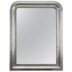 19th Century, Louis Philippe Silver Gilt Mirror