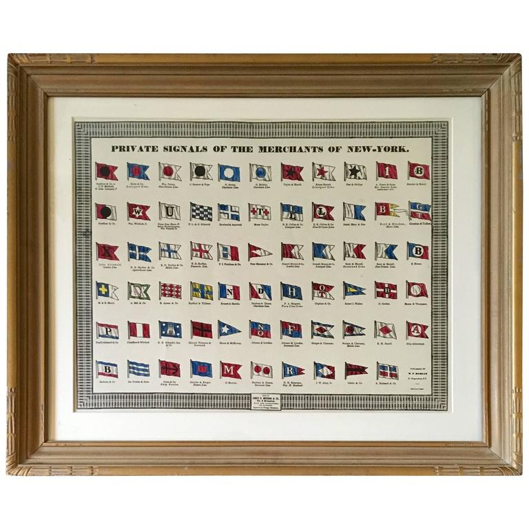 Private Signals of the Merchants of New York For Sale