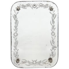 Etched French Vanity Mirror on Stand