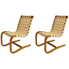 Pair of Bentwood Lounge Chairs, Denmark