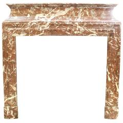 19th Century, French, Louis XIV Style Marble Mantel