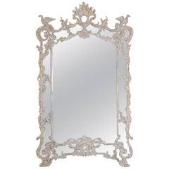 Monumental Italian Rococo Style Mirror with Ho Ho Birds