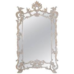 Monumental Italian Rococo Style Mirror with Ho Ho Birds