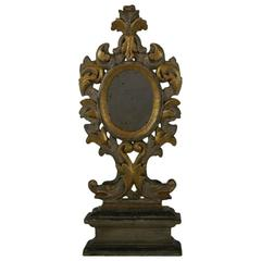 18th Century Italian Carved Baroque Mirror with Dolphins