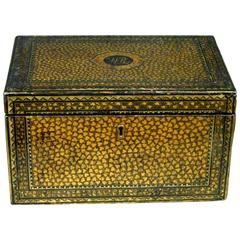 An Exceptional 19th Century Chinese Export Lacquer Tea Caddy, Guangzhou (Canton)