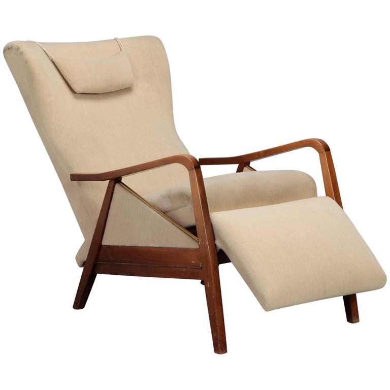 Mid Century Reclining Chair In The Manner Of Paola Buffa For Sale