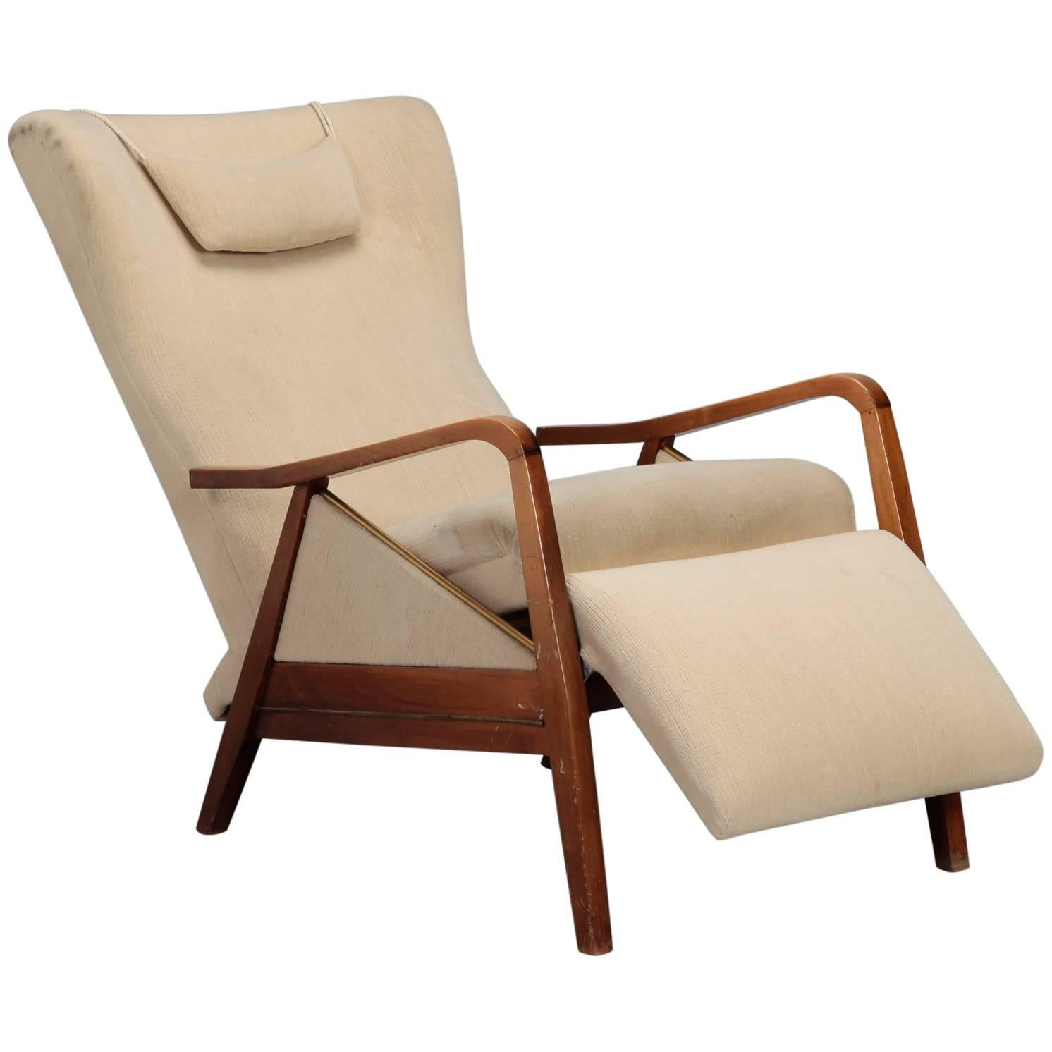 Mid-Century Reclining Chair in the Manner of Paola Buffa