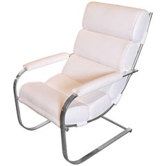 Machine Age Art Deco Gilbert Rohde for Troy Sunshade Flat Band Springer Chair
