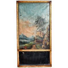 French Giltwood Trumeau Mirror