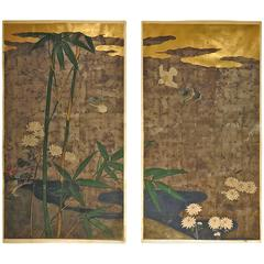 Japanese Door Panels Meiji, 19th Century