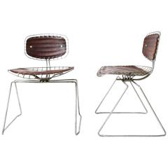 1976, Michel Cadestin, Pair of Beaubourg Chairs