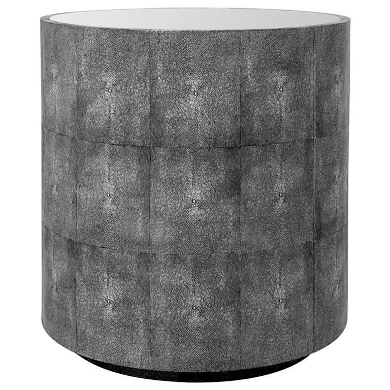 Shagreen Drum Table