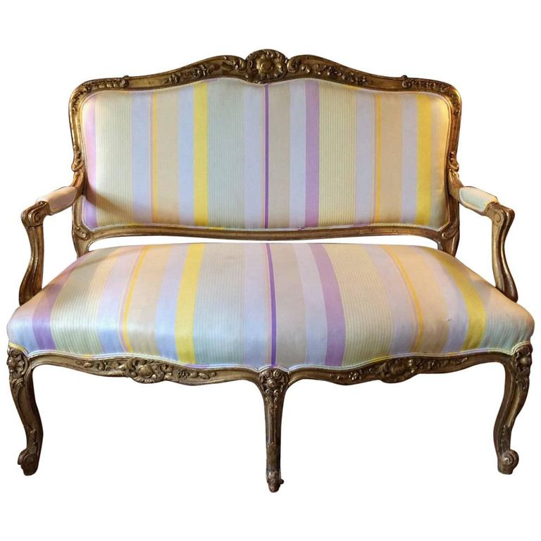 French sofa settee salon lounge louis xv style gilded for Salon louis xv