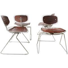 1976, Michel Cadestin, Four Beaubourg Chairs