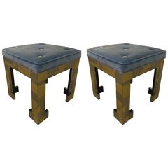 Pair of Paul Evans Style Stools