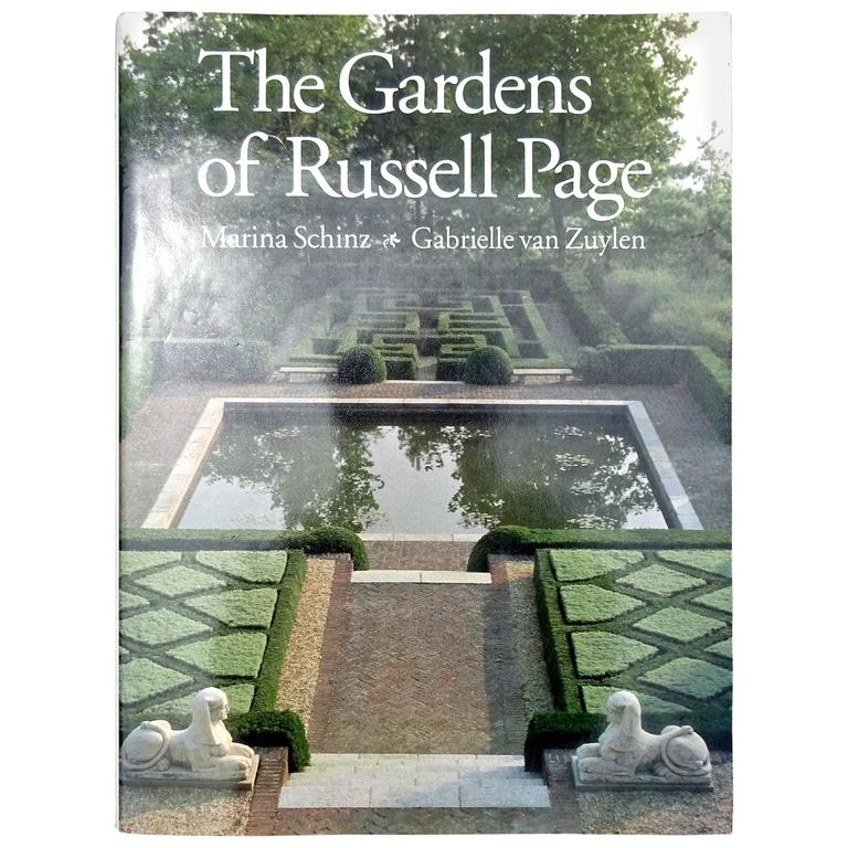 """Rare """"Gardens of Russell Page"""" Book, 1990 First Edition For Sale"""