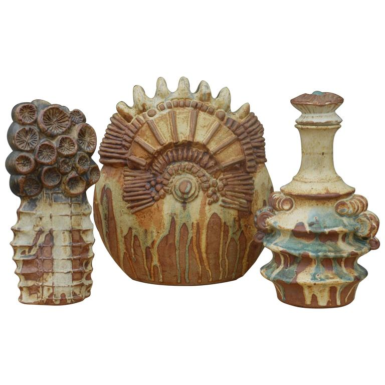 Collection of Pottery by Bernard Rooke 1