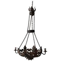 Late 19th Century Italian Tole Chandelier