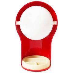 """1968, Vico Magistretti, """"Telegono"""" Red Table Lamp, Artemide"""