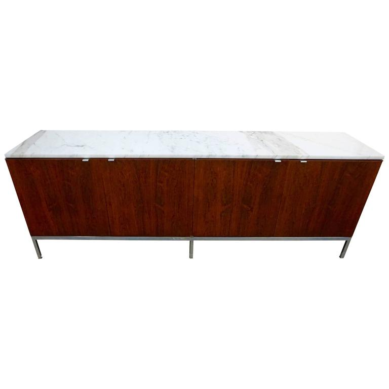 Knoll Rosewood Credenza with Marble Top 1