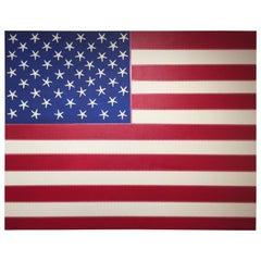 J. WOHNSEIDLER American Flag No. 1, 2017 Acrylic on Canvas