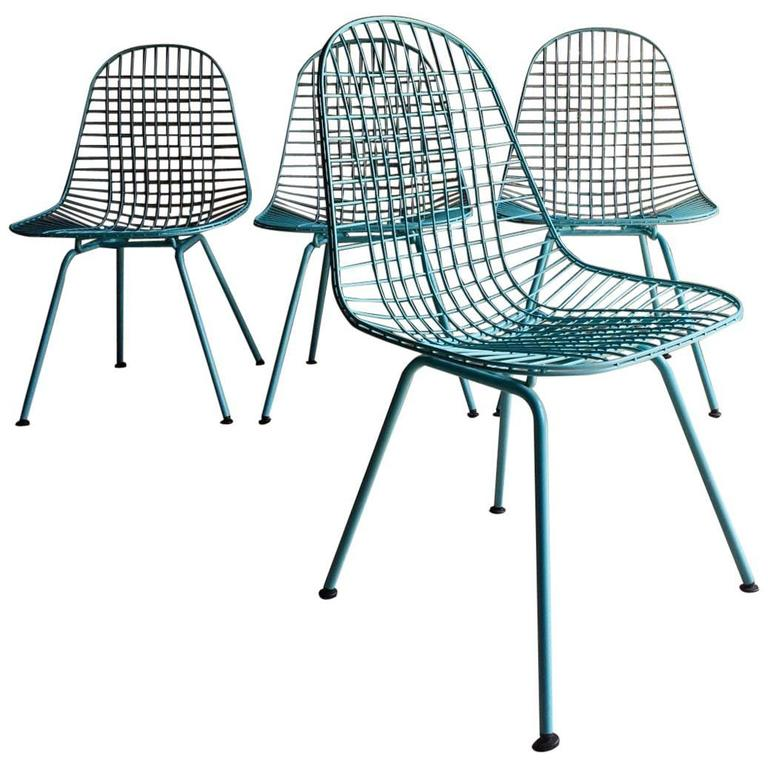 Mid-Century Charles and Ray Eames DKX Wire Chairs Vitra1950s Rare ...