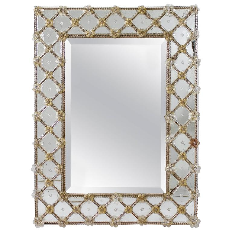 Rectangular Venetian Border Glass Mirror