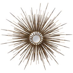 Multi-Tiered Sunburst Wall Mirror