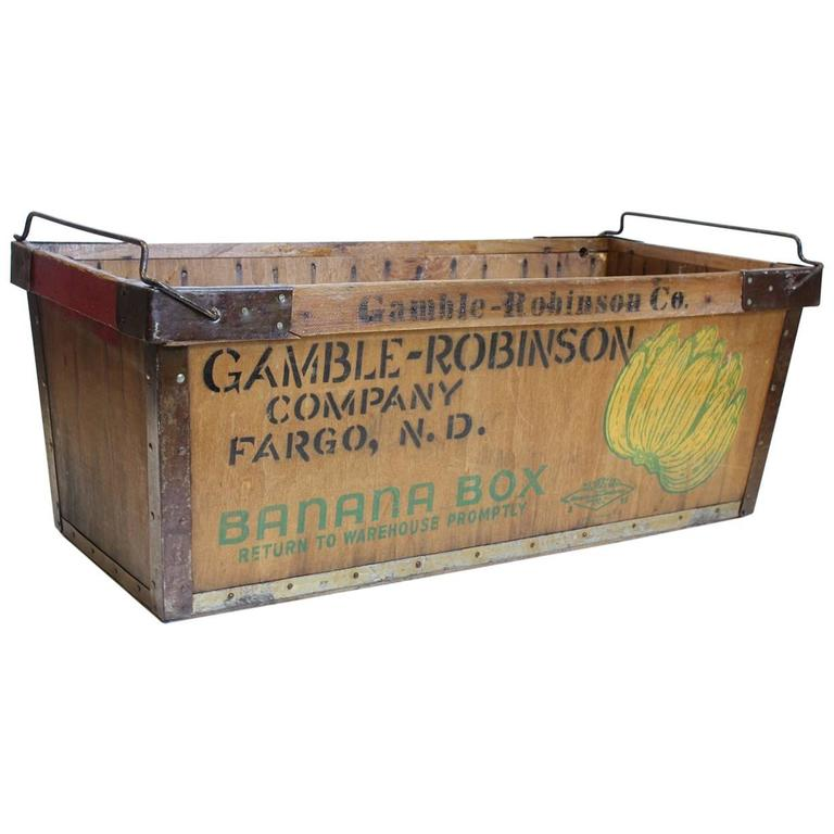 Vintage American Banana Crate For Sale At 1stdibs
