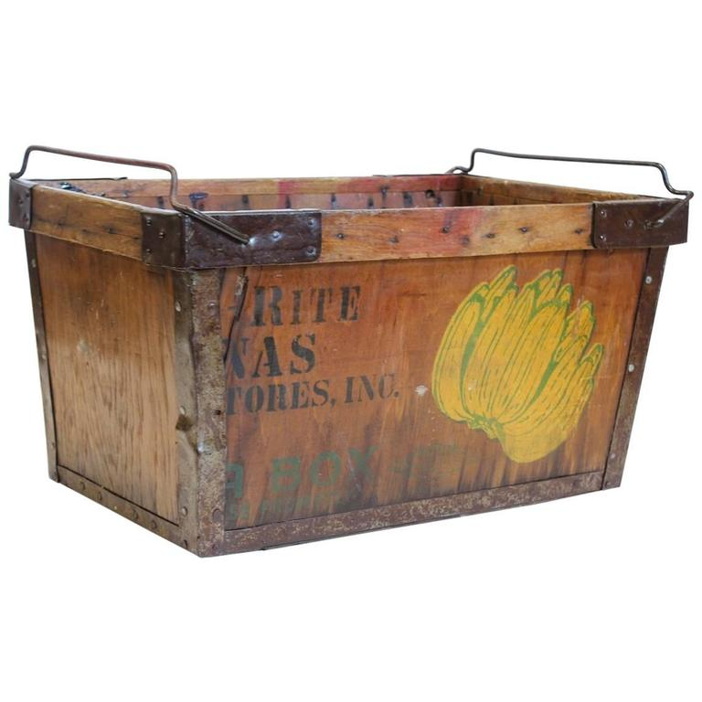 Vintage American Banana Crate