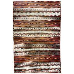 Rare Mexican Saltillo Sarape Traditional Woven Blanket, ca' 1910-1920's