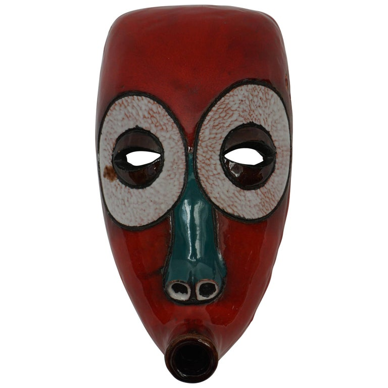 At Manteto Ceramic Wall Mask For Sale