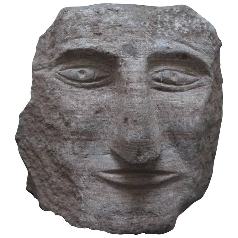 Ted Ludwiczak Banded Stone Carved Head 1