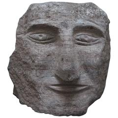 Ted Ludwiczak Banded Stone Carved Head