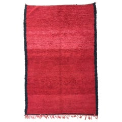 Bohemian Moroccan Shaggy Pile Vintage Rug