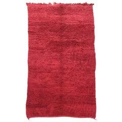 Vintage Red Tribal Moroccan Rug