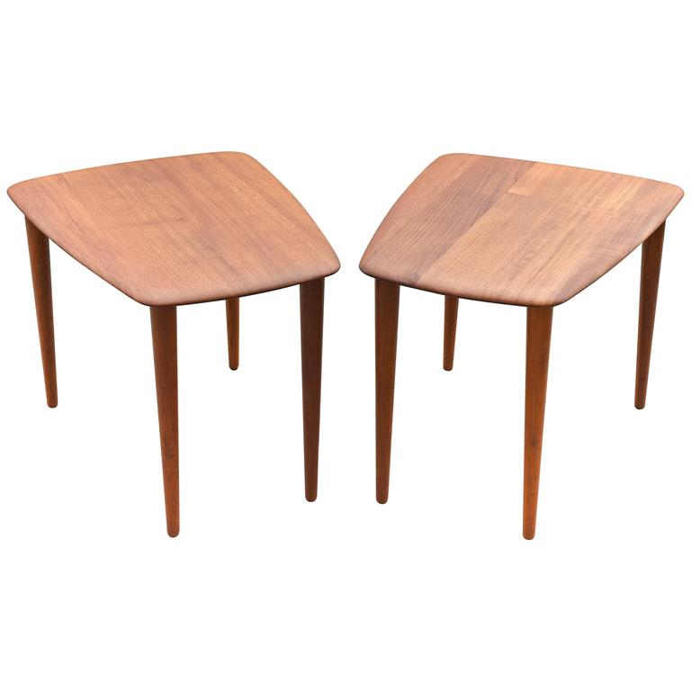 Pair of Side Tables by Peter Hvidt for France & Sons