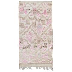 Vintage Moroccan Talsint Rug Pink and Neutral Tones