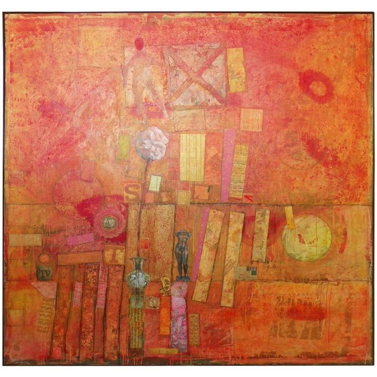 Large Patrick Archer Abstract Collage 1
