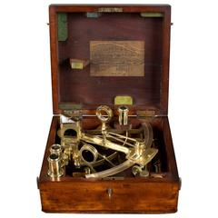 Victorian Vernier Sextant by Crichton Brothers, London