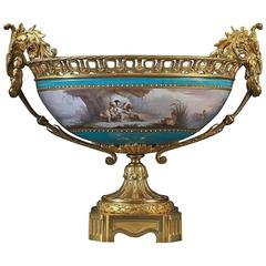 Sèvres-Style Gilt-Bronze Mounted Porcelain Coupe, French, circa 1885