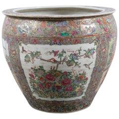 Vintage Palace-Size Chinese Porcelain Centre Bowl
